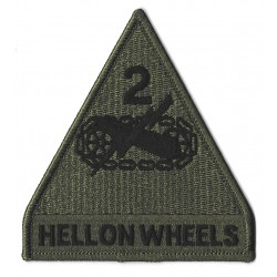 Patche écusson thermocollant Hell on wheels kaki