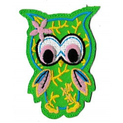 Iron-on Patch green Owl