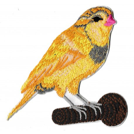 Iron-on Patch yellow bird embroidered