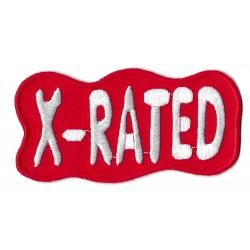 Patche écusson X rated