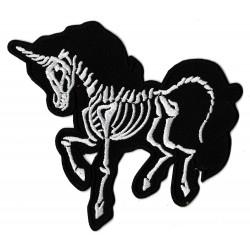 Patche écusson Licorne rayons X squelette