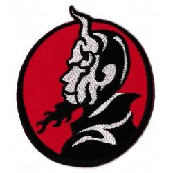 Patche écusson thermocollant diable rouge