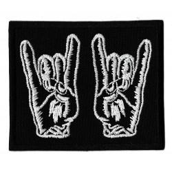 Patche écusson black metal horns of metal battle jacket
