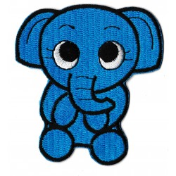 Patche écusson thermocollant Eléphant bleu