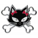Iron-on Patch black Pirate pussy