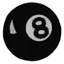Patche écusson bille badge 8 ball Billiard