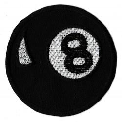 Patche écusson thermocollant bille 8 ball Billiard