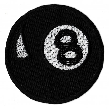 Patche écusson bille badge 8 ball Billiard