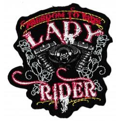Patche écusson lady rider motard