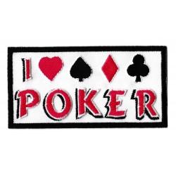 Patche écusson I love poker Carré d'As
