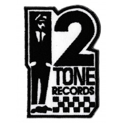 Patche écusson 2 tones records Ska nutty skins