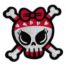 Toppa  termoadesiva Lovely Skull