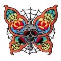 Iron-on Patch butterfly skull