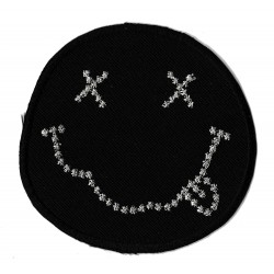 Aufnäher Patch Bügelbild Smiley Shit
