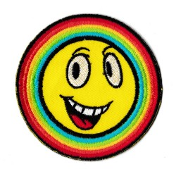 Toppa  termoadesiva Rainbow Smiley