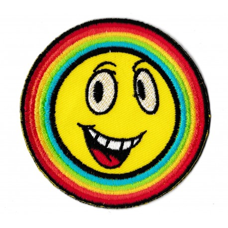 Aufnäher Patch Bügelbild Rainbow smiley