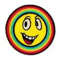 Patche écusson rainbow Smiley Arc-en-ciel