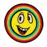 Patche écusson thermocollant Smiley Arc-en-ciel