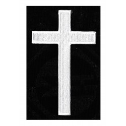 Iron-on Patch White Christian Cross
