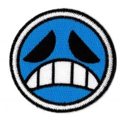 Patche écusson thermocollant emoji triste