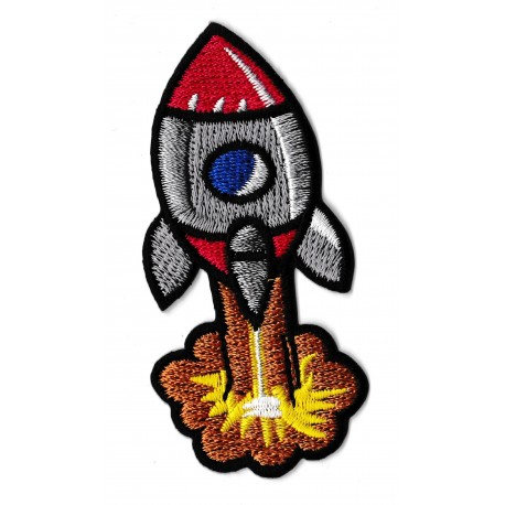 Patche écusson fusée enfants rocket