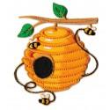 Patche écusson ruche miel et abeilles