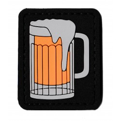 glass of beer PVC patch
