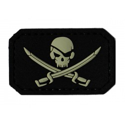 Patche PVC drapeau pirate  velcro
