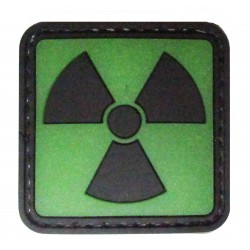 radioactivity PVC patch glow in the dark