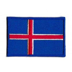 Patche écusson petit drapeau Islande