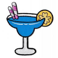 Patche écusson cocktail Blue Lagoon